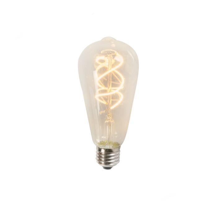 Skrútené-LED-vlákno-ST64-5W-2200K-číre