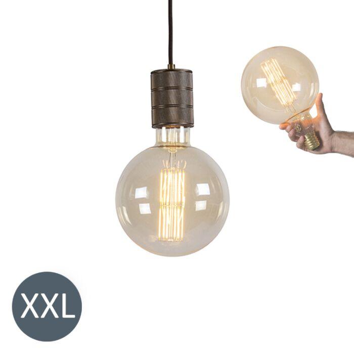 Závesné-svietidlo-bronzové-Megaglobe-so-stmievateľnou-LED-žiarovkou