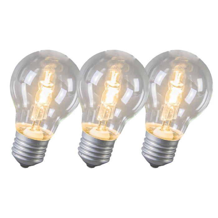 Halogénová-žiarovka-E27-53-W,-sada-3