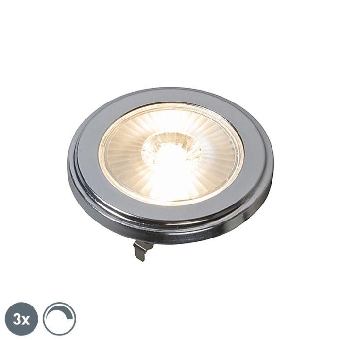Sada-3-stmievateľných-LED-žiaroviek-AR111-10W-10W-800LM-3000K