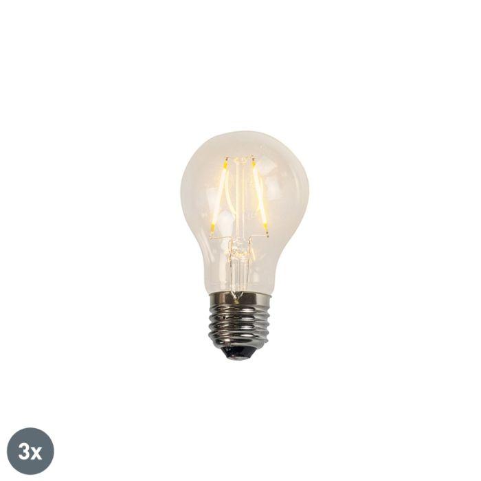 Sada-3-žiaroviek-LED-A60-2W-2200K-číre