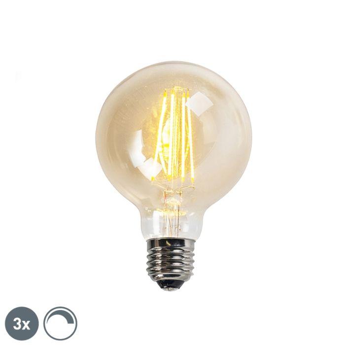 Sada-3-stmievateľných-žiaroviek-LED-vlákno-E27-Goldline-G95-5W-450LM-2200K