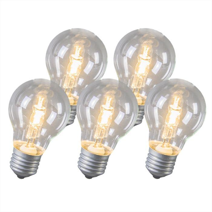Halogénová-žiarovka-E27-53-W,-sada-5