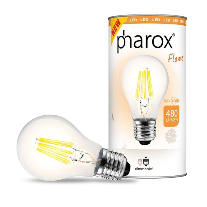 LED-žiarovka-Pharox-Flame-E27-6W-480-lúmenov