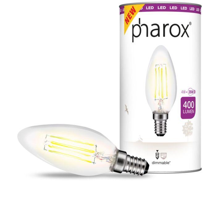 LED-žiarovka-Pharox-LED-číra-E14-4W-400-lúmenov