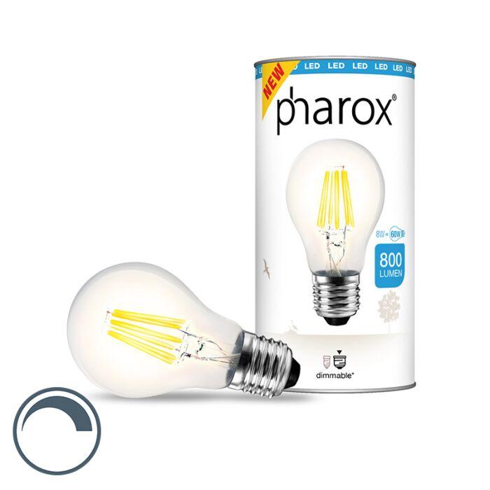 LED-žiarovka-Pharox-číra-E27-8W-800-lúmenov