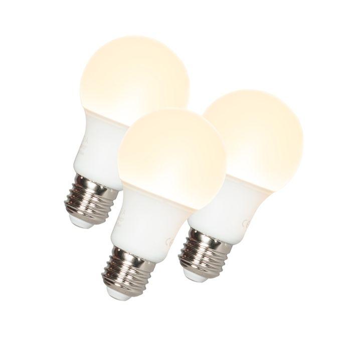 Sada-3-LED-žiarovky-A60-E27-9W-3000K