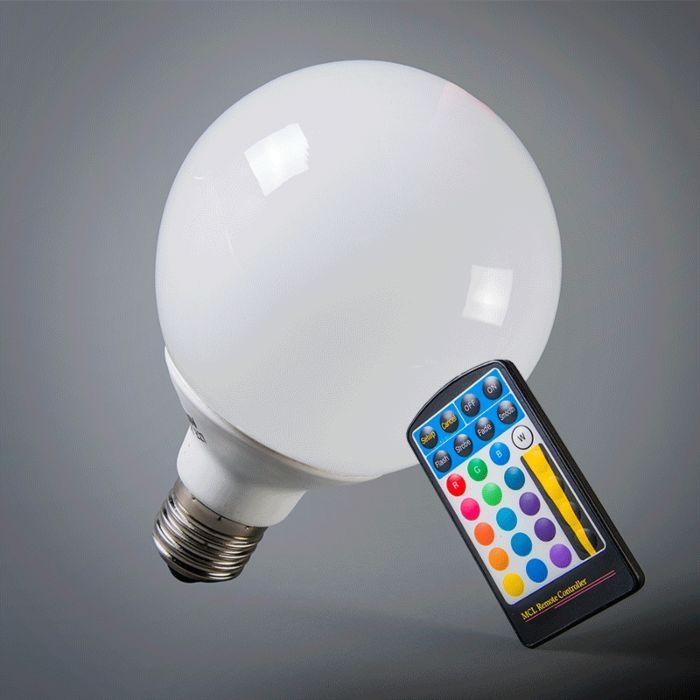 LED-guľa-E27-RGB-95-mm-s-diaľkovým-ovládaním