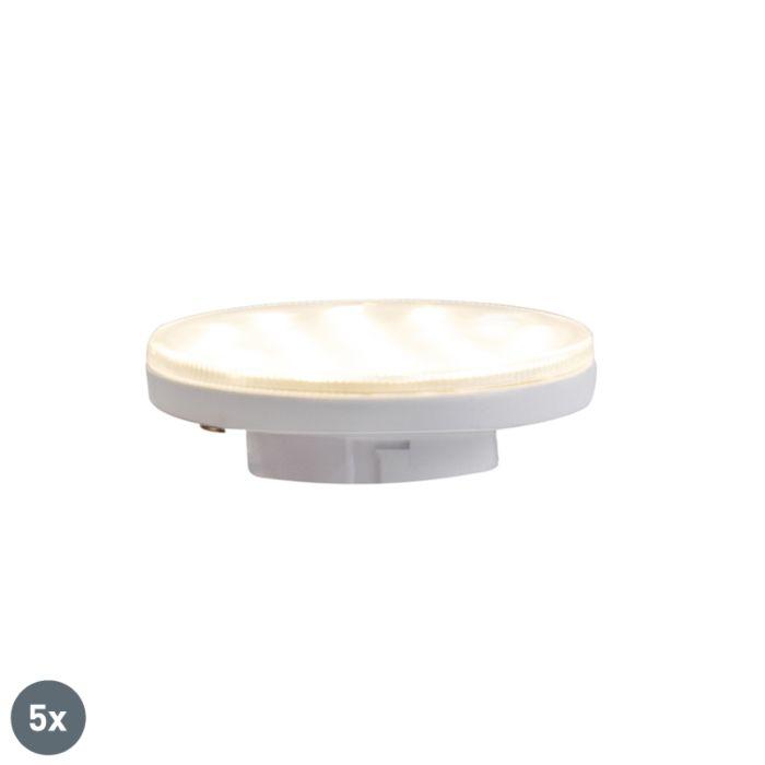 Sada-5-3-stupňových-stmievateľných-LED-žiaroviek-GX53-3W-350-lm-3000K