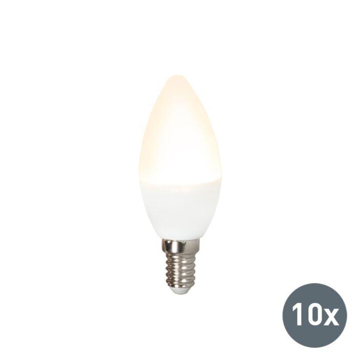 Sada-10-LED-žiarovky-C37-E14-3W-3000K