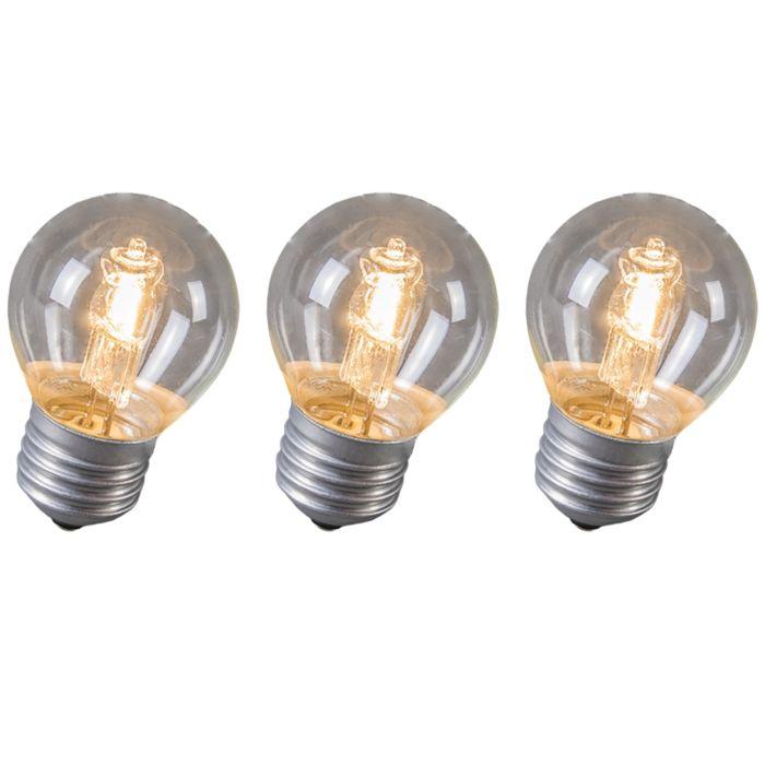 Halogénová-guľa-E27-28W,-sada-3-žiaroviek