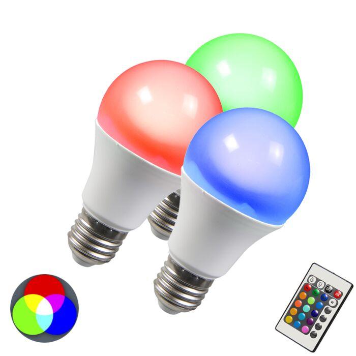 LED-žiarovka-RGB-E27-10-W,-extra-teplá-biela,-sada-3-ks