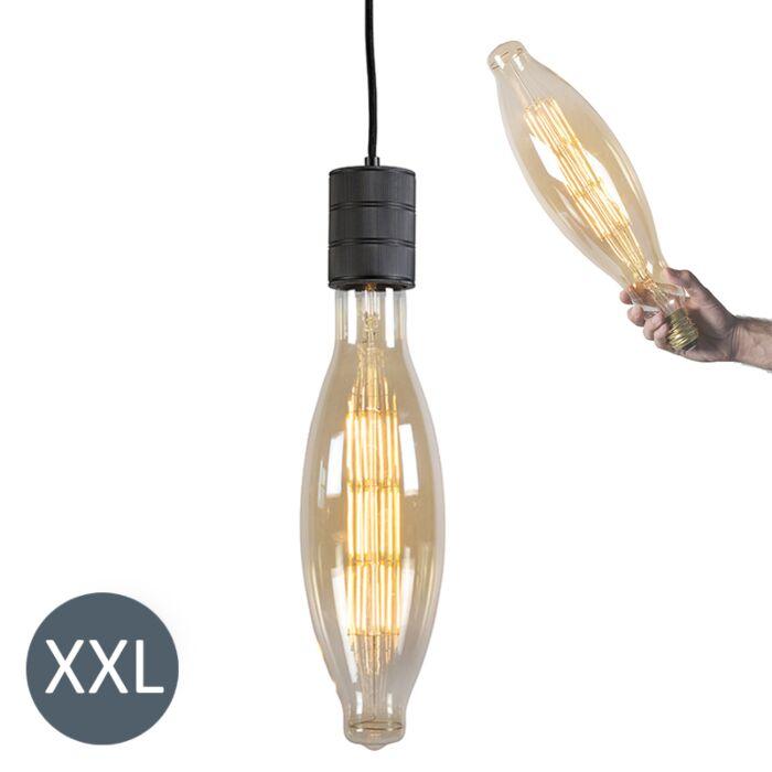 Závesné-svietidlo-Elips-čierne-s-stmievateľnou-LED-žiarovkou