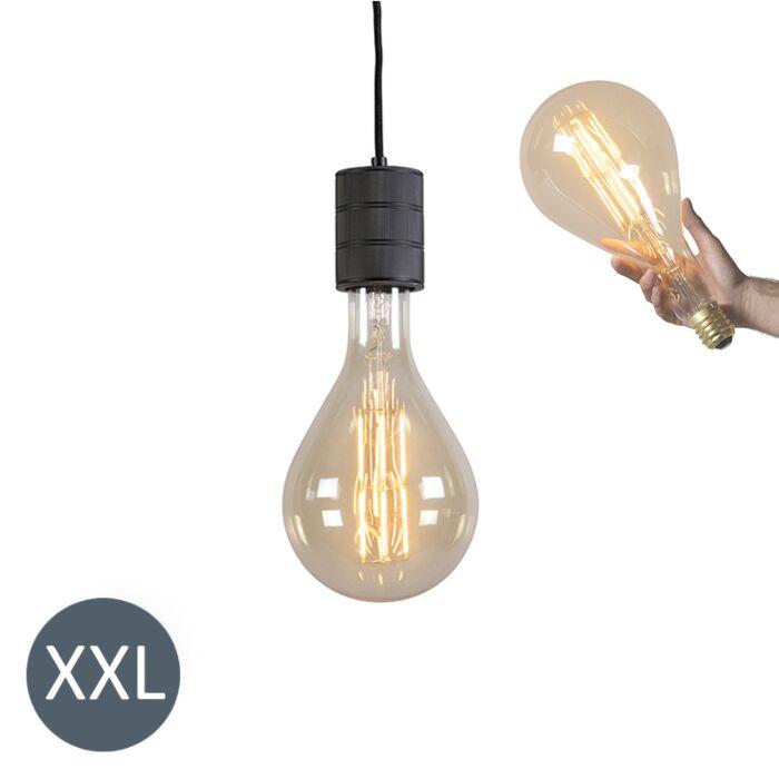 Závesné-svietidlo-Splash-black-so-stmievateľnou-LED-žiarovkou