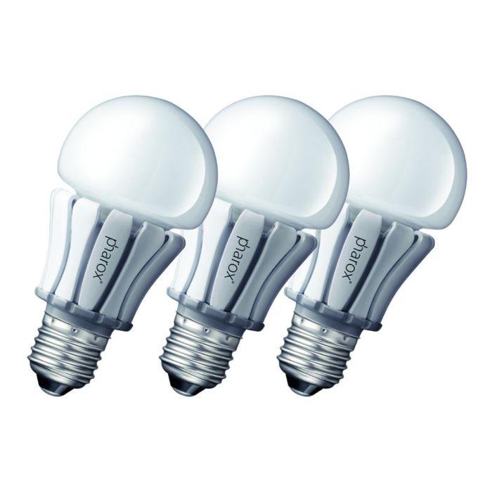 Sada-3-LED-žiarovky-Pharox-400-E27-8W-230V