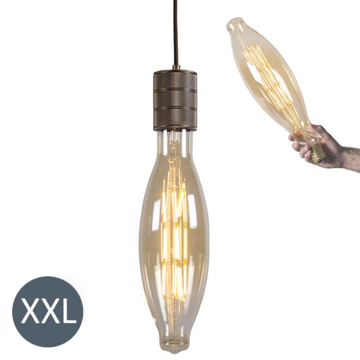 Závesné-svietidlo-Elips-bronzové-so-stmievateľnou-LED-žiarovkou