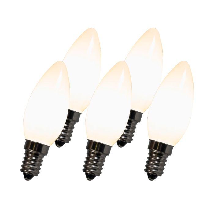 Vláknová-LED-žiarovka-C35-E14-2W-2700K-biela-sada-po-5