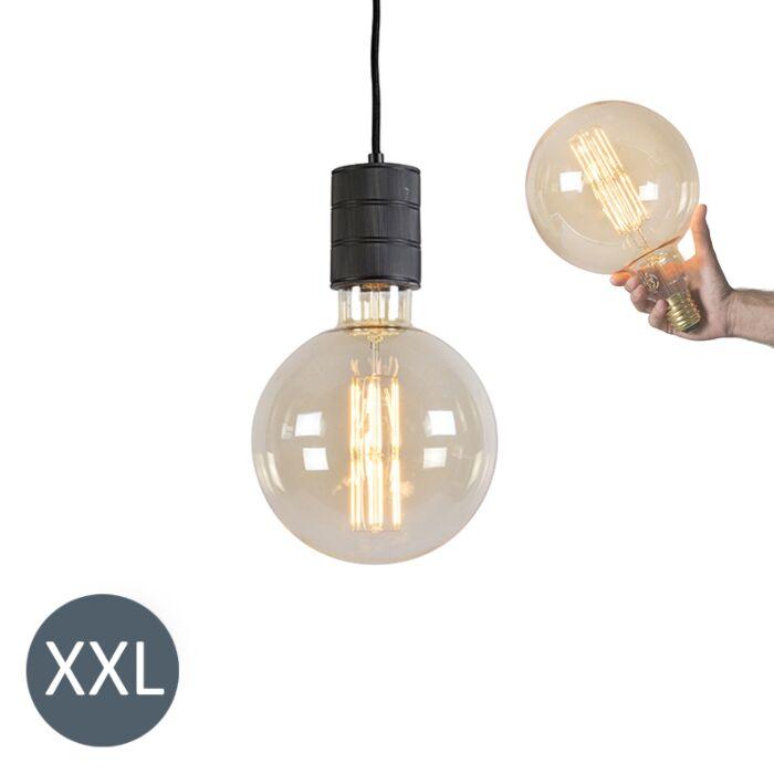 Závesné-svietidlo-Megaglobe-čierne-so-stmievateľnou-LED-žiarovkou