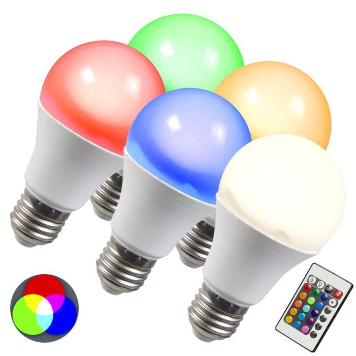 LED-žiarovka-RGB-E27-3W,-sada-5-kusov