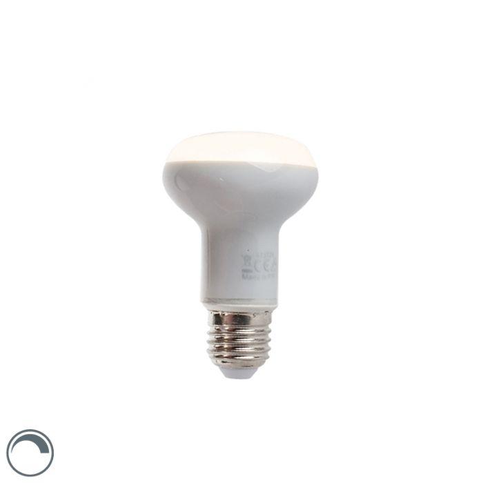 Stmievateľná-LED-reflektorová-žiarovka-E27-5W-370-lúmen-teplá-biela-2900K-R63