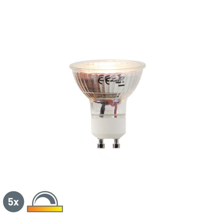 Sada-5-LED-žiaroviek-GU10-5W-2000-2700K-Stmievateľné-na-zahrievanie