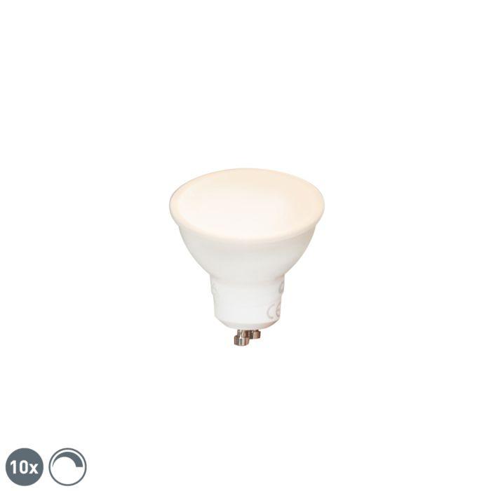 Sada-10-stmievateľných-LED-žiaroviek-GU10-6W-450-lm-2700K