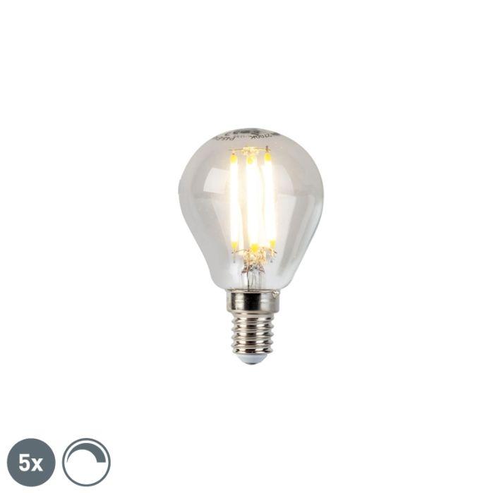 Sada-5-stmievateľných-guľkových-žiaroviek-LED-vlákien-E14-5W-470lm-2700K