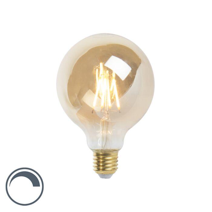 LED-stmievateľná-žiarovka-E27-G95-goldline-360lm-2200K