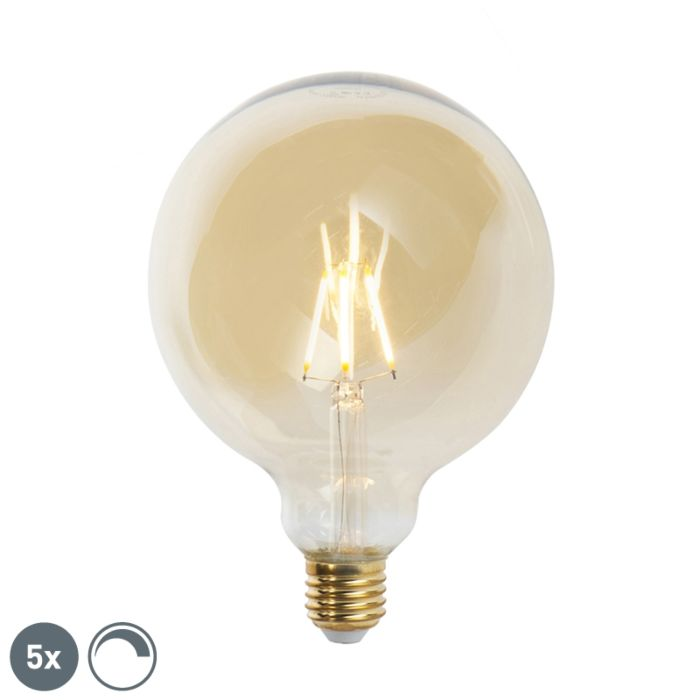 Sada-5-stmievateľných-žiaroviek-LED-E27-G125-goldline-2200K