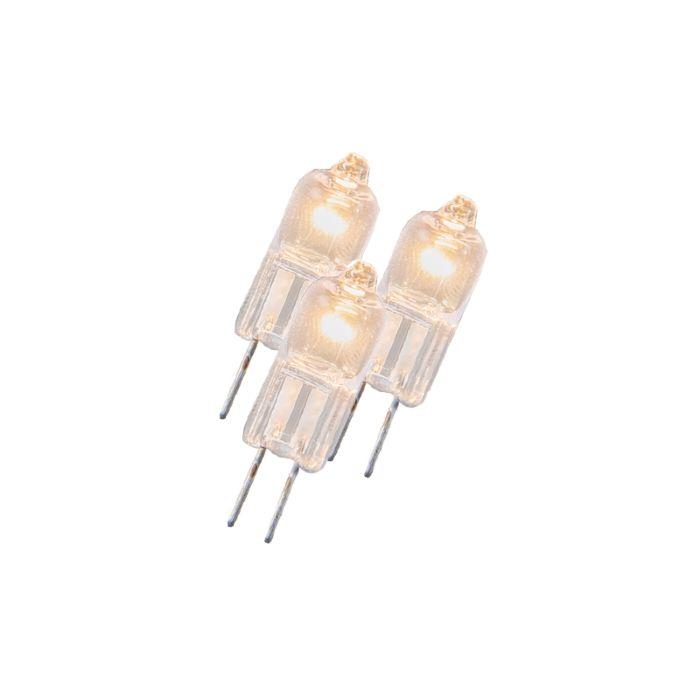 Sada-3-halogénových-žiaroviek-G4-5W-12V-číra
