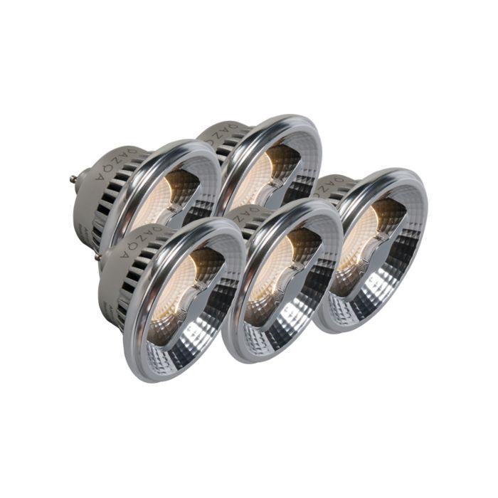 Sada-5-žiaroviek-GU10-AR111-LED-12W-240V-3000K-stmievateľných