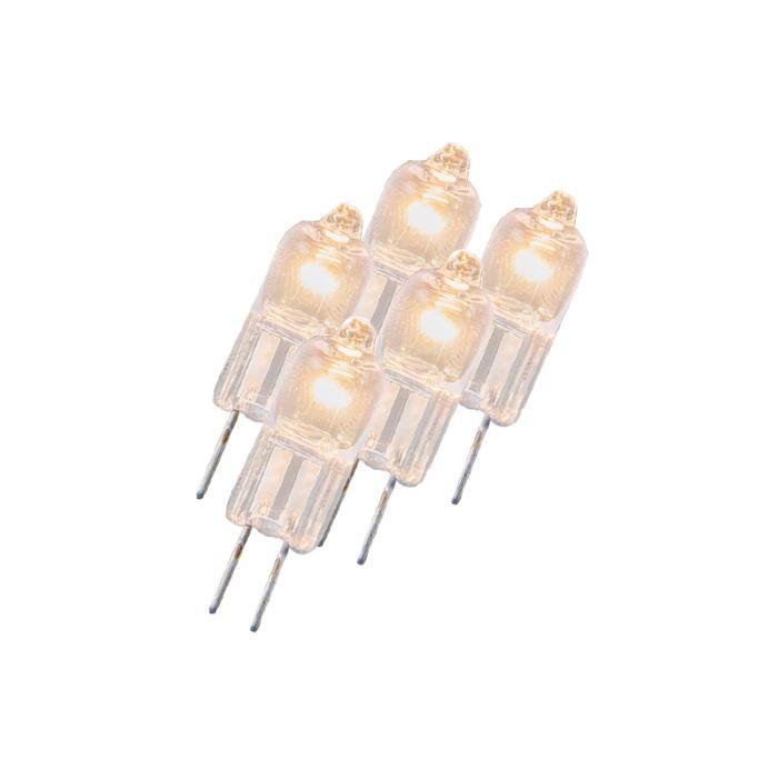 Sada-5-halogénových-žiaroviek-G4-5W-12V-číra
