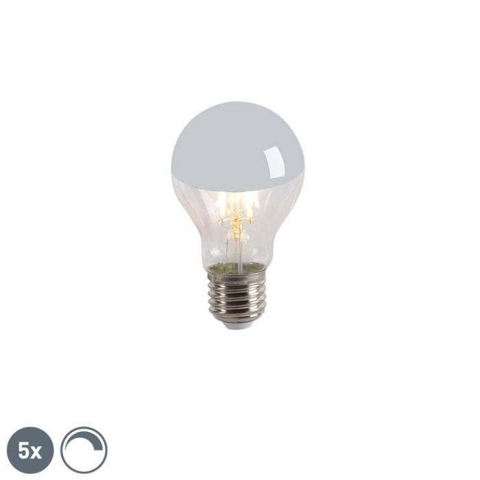 Sada-5-LED-zrkadlových-žiaroviek-s-žiarovkou-E27-240V-4W-300lm-A60-stmievateľných