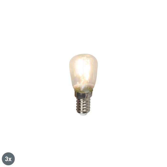 Sada-3-žiaroviek-LED-žiaroviek-E14-LED-T26-1W-100lm-2700-K.