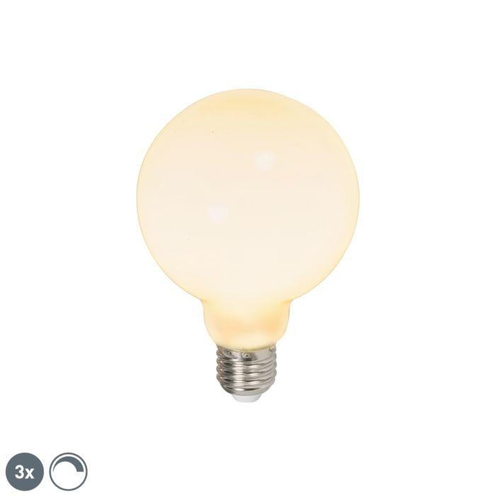Sada-3-LED-žiaroviek-E27-240V-6W-650lm-stmievateľných