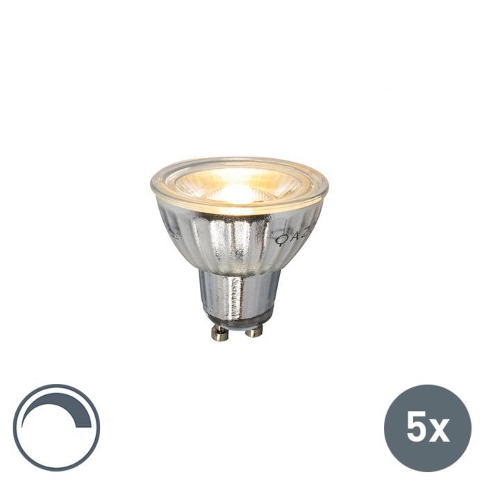 Sada-5-LED-žiaroviek-GU10-stmievateľných-230V-5W-380LM-2700K
