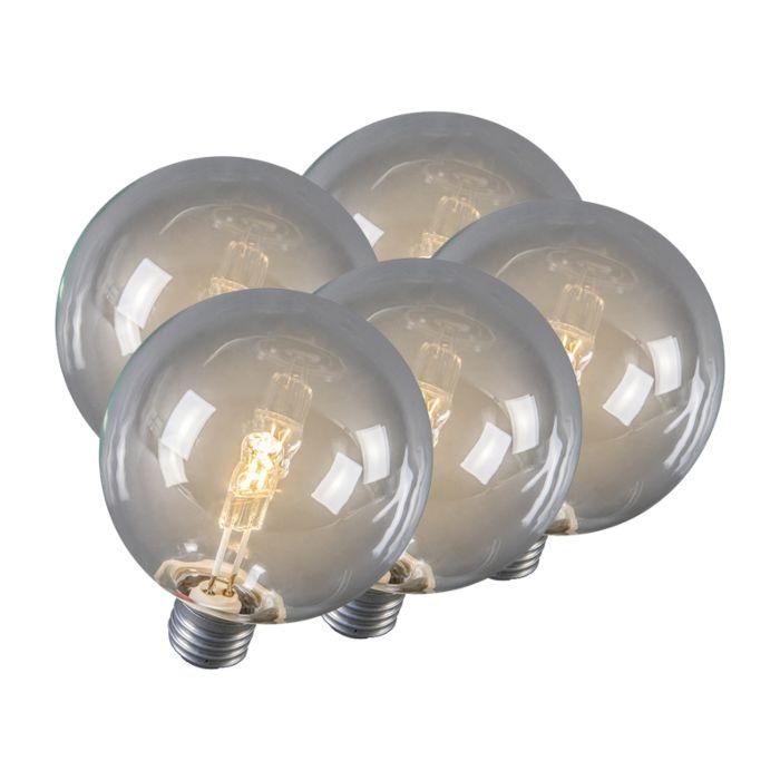 Sada-5-halogénových-žiaroviek-E27-Globe-95mm