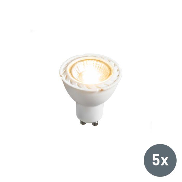 Sada-5-LED-žiarovky-GU10-240V-7W-2700K-stmievateľných