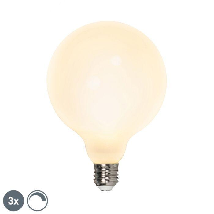 Sada-3-LED-žiaroviek-E27-240V-8W-900lm-stmievateľných