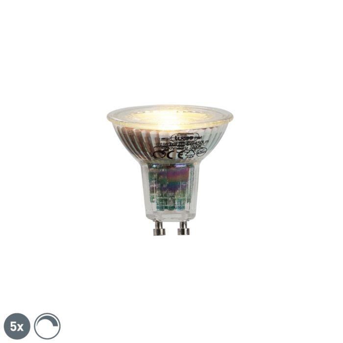 Sada-5-žiaroviek-GU10-LED-6W-450lumen-2700K-stmievateľných