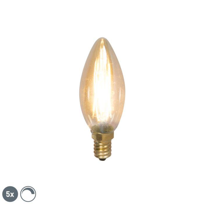 Sada-5-stmievateľných-žiaroviek-LED-žiarovky-s-vláknom-E14-200lm-2100-K.