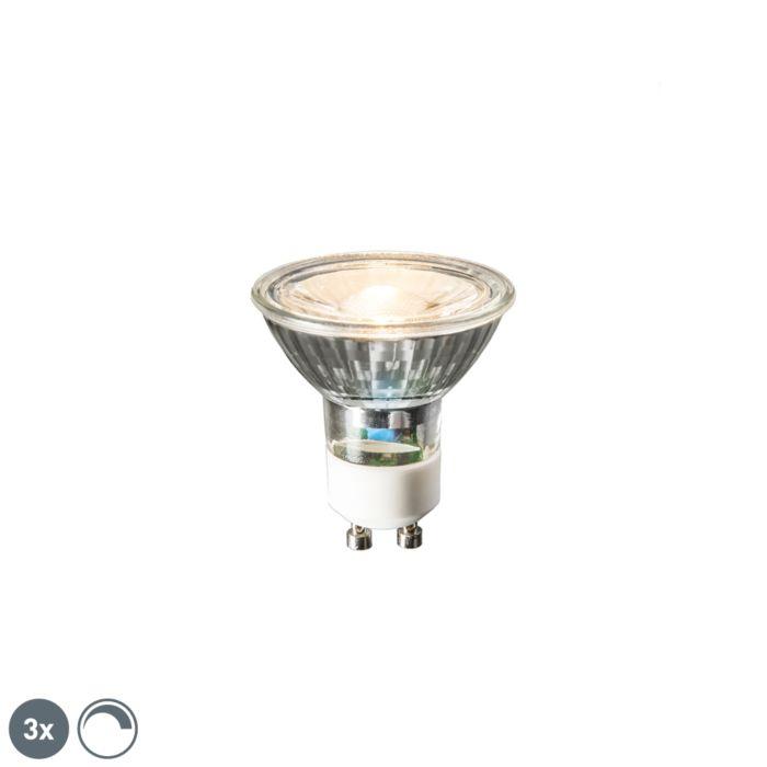 Sada-3-LED-žiaroviek-GU10-6W,-450-lúmenov,-2700K-stmievateľných