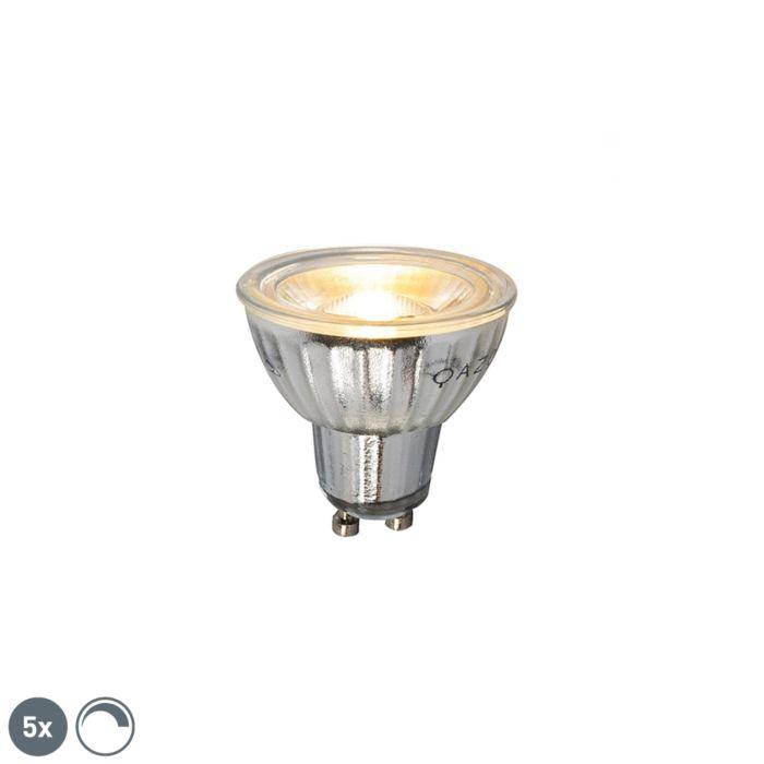 Sada-5-stmievateľných-LED-žiaroviek-GU10-7W-500LM-2700K