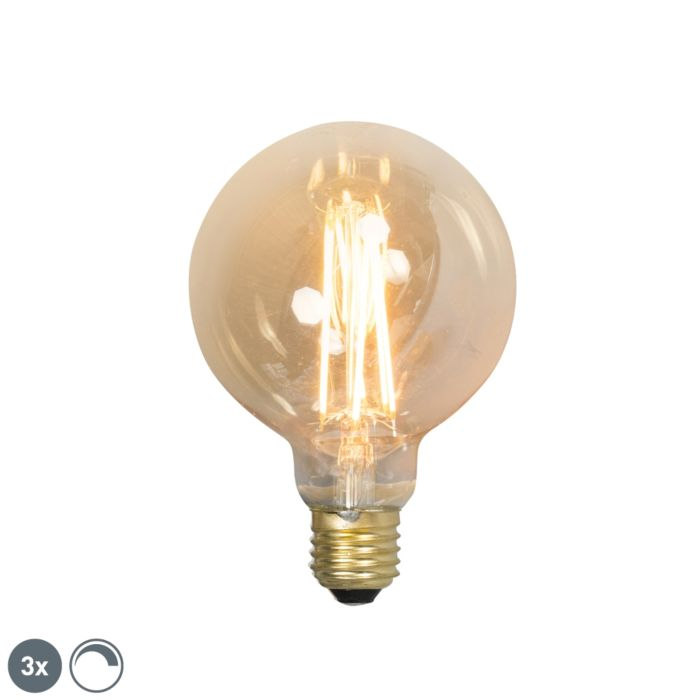 Sada-3-stmievateľných-žiaroviek-LED-E27-G95-goldline-2100K