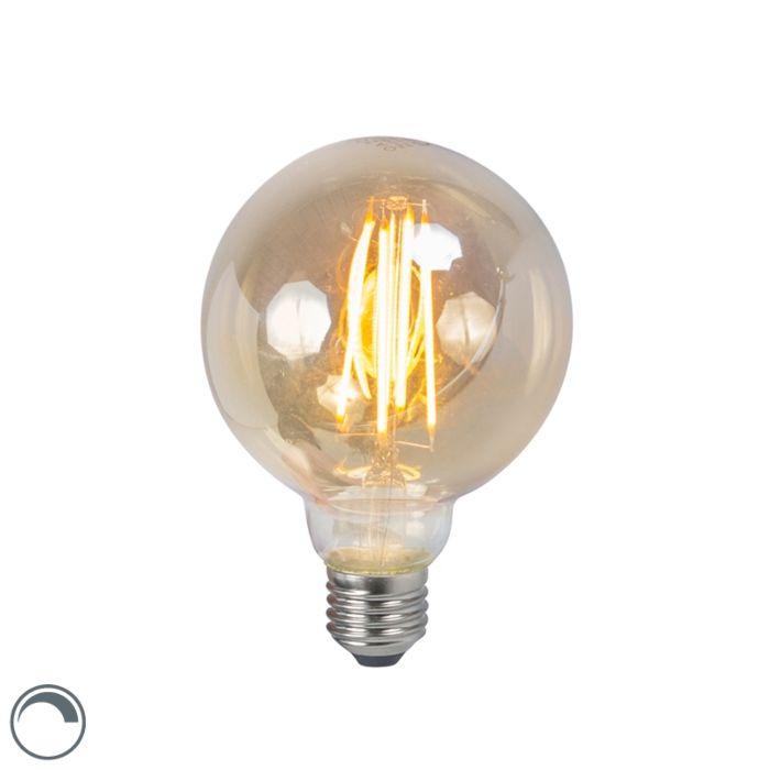 LED-žiarovka-E27-5W-2200K-G95-dymová-stmievateľná
