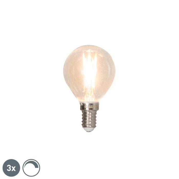 Sada-3-stmievateľných-guľkových-žiaroviek-LED-3-žiarovky-E14-3W-350lm-2700K