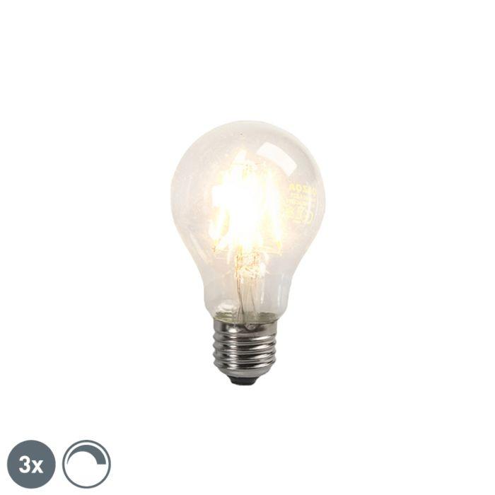 Sada-3-žiaroviek-LED-žiarovka-E27-4W-390lm-stmievateľných