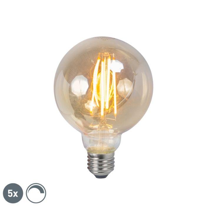 Sada-5-E27-stmievateľných-dymových-žiaroviek-s-LED-vláknami-5W-450lm-2200K