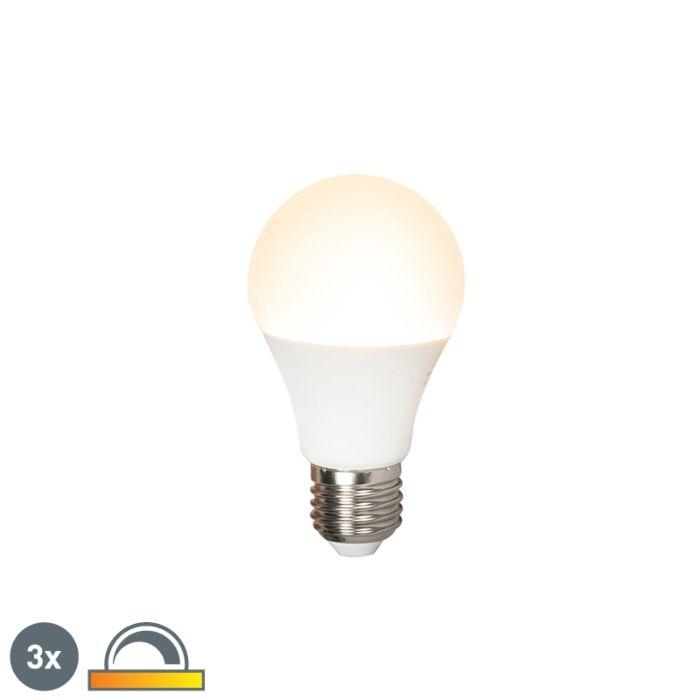 Sada-3-LED-žiarovky-E27-240V-7W-510lm-A60-stmievateľné