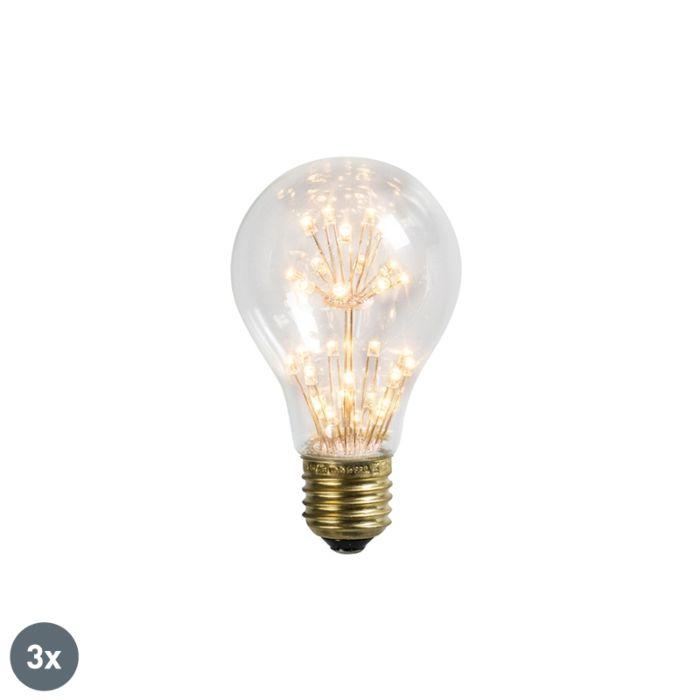 Sada-3-LED-žiarovky-E27-1,5W-/-136LM